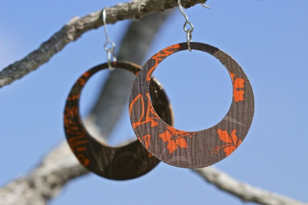 09 Pressed Paper Earrings