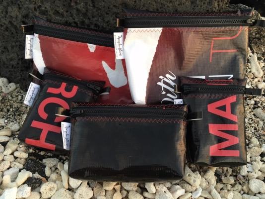 12 Reclaimed Vinyl Banner Bags